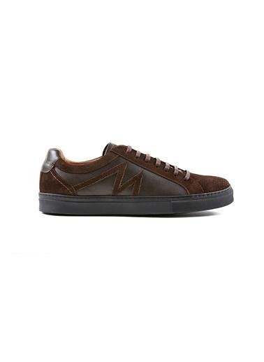 Hemington Kahverengi Deri Sneakers Kahve